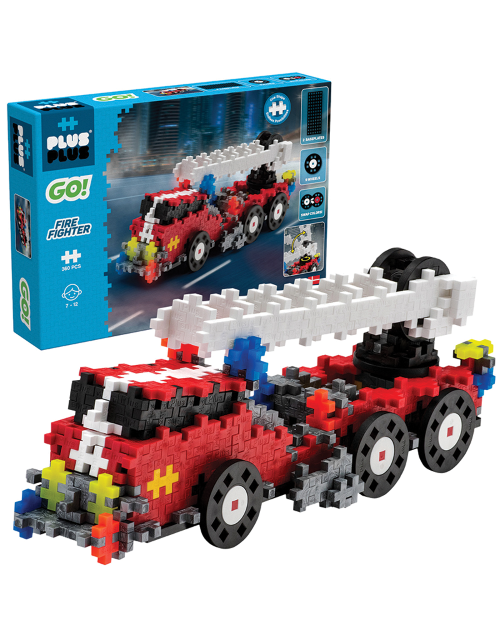Plus-Plus Go! Fire Fighter Engine, 360 pc Set