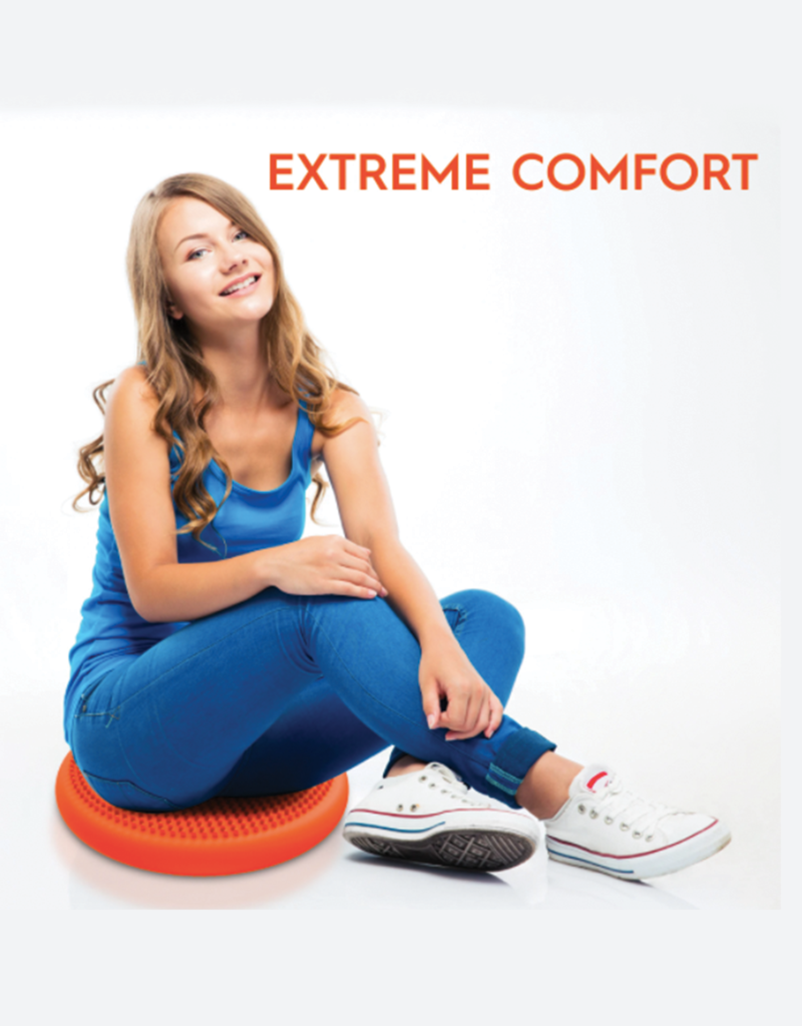 Bouncyband Wiggle Seat Sensory Cushion, 33cm Blue