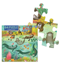 eeBoo Otters at Play 64 Pc Puzzle