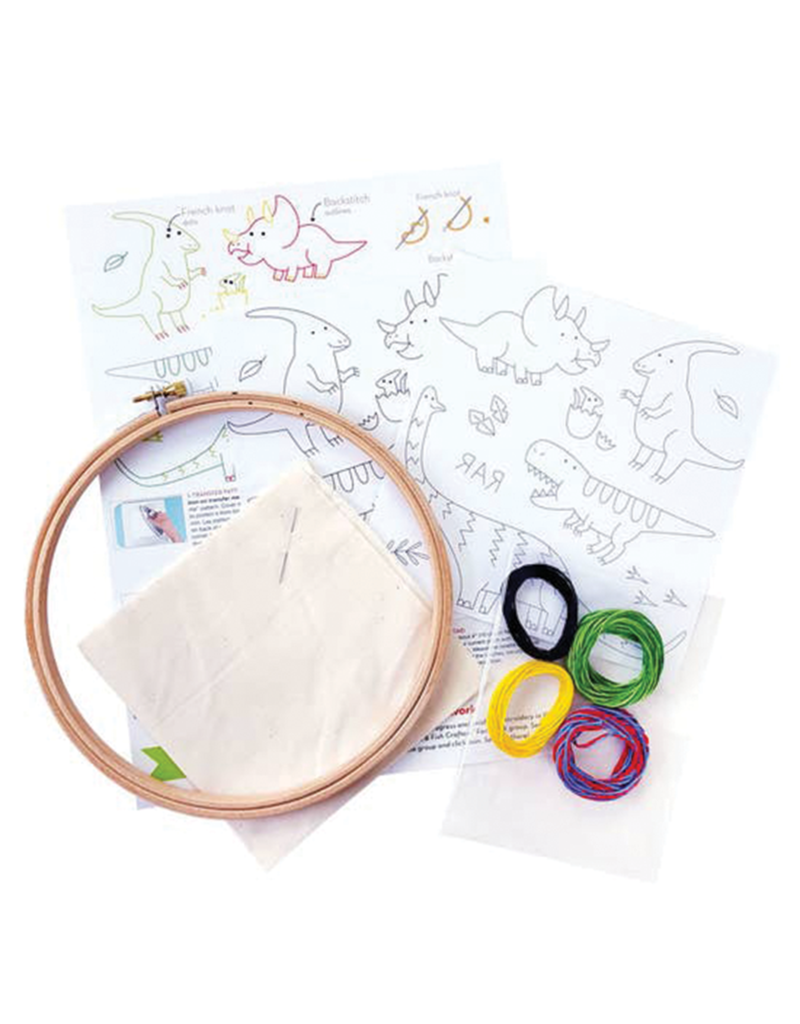 Penguin and Fish Dino Pals Embroidery Kit for Beginners