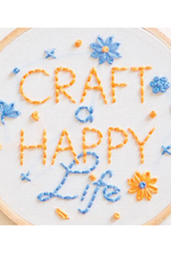 Penguin and Fish Craft a Happy Life Embroidery Kit for Beginners