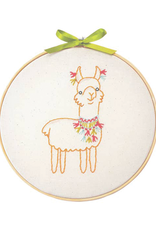 Penguin and Fish Llama Embroidery Kit for Beginners