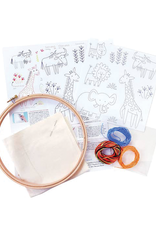 Penguin and Fish Safari Pals Embroidery Kit for Beginners