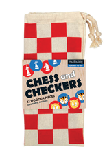 Mudpuppy Chess & Checkers Geometric Animals Game