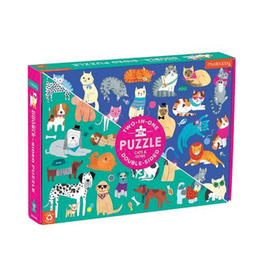 Mudpuppy Cats and Dogs Double-Sided 100-piece Puzzle