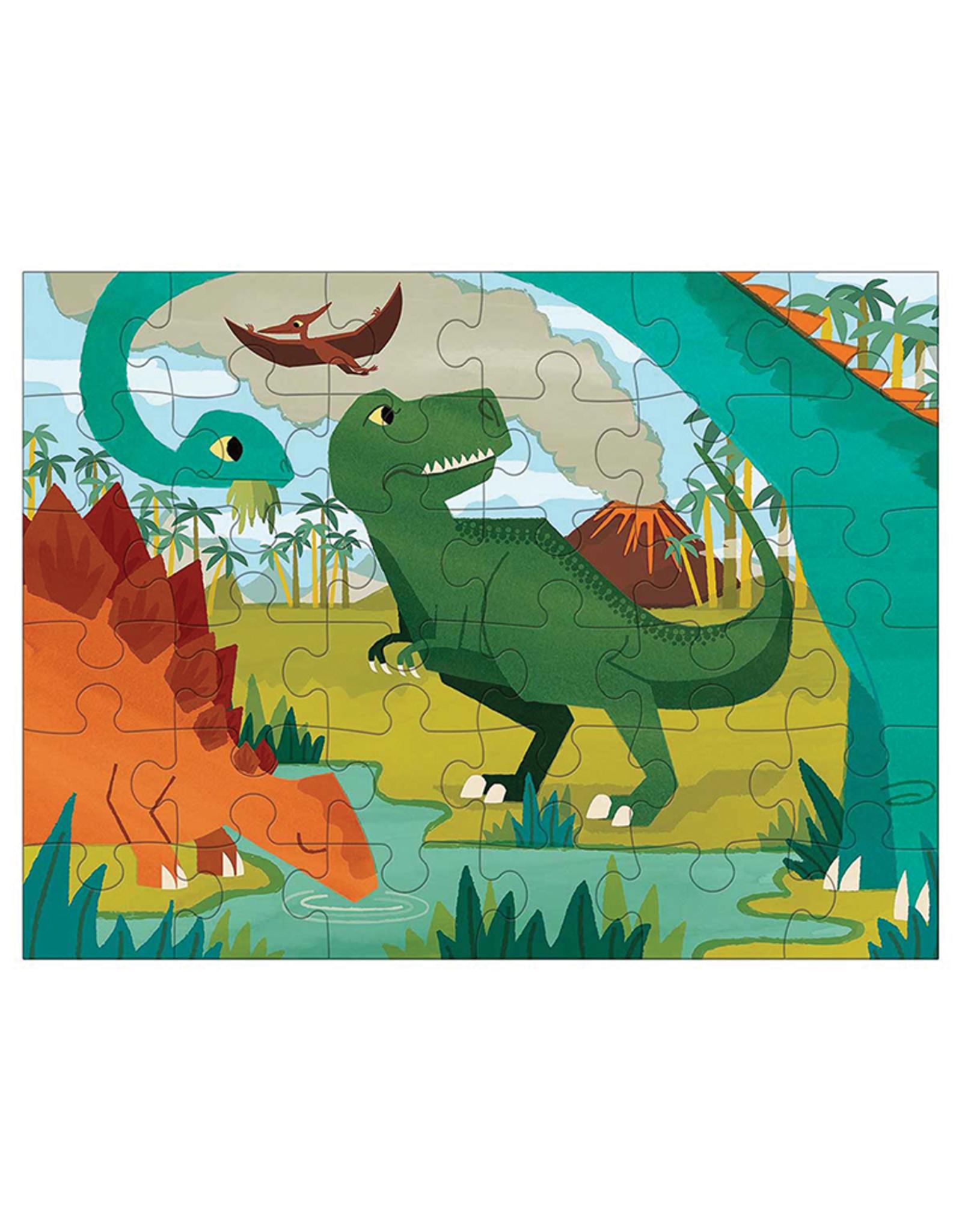 Mudpuppy Dinosaur Park 36-Piece Puzzle to Go
