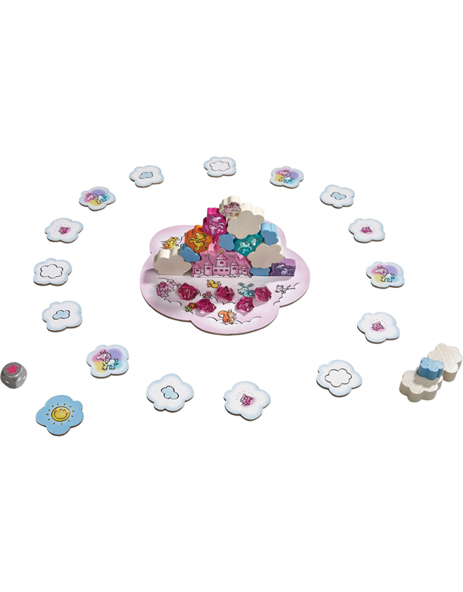 Haba Unicorn Glitterluck Cloud Stacking Game