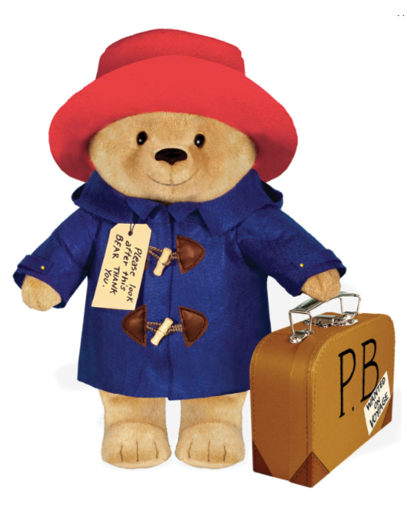 "Yottoy Paddington Bear, 16"" Doll with Suitcase"