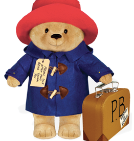 "Yottoy Paddington Bear, 16"" Doll with Suitcase"