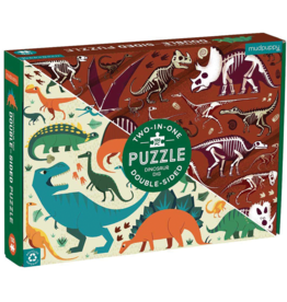 Mudpuppy Dinosaur Dig Double-Sided Puzzle