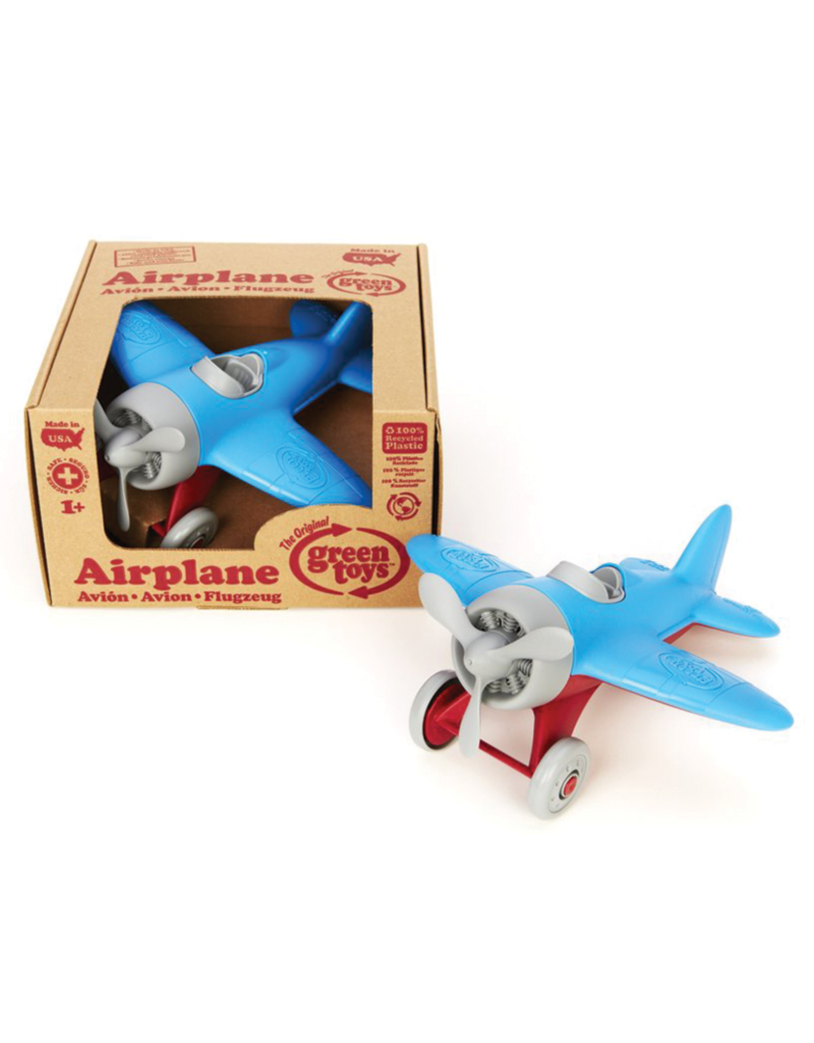 Green Toys Green Toys® Airplane with Blue Wings