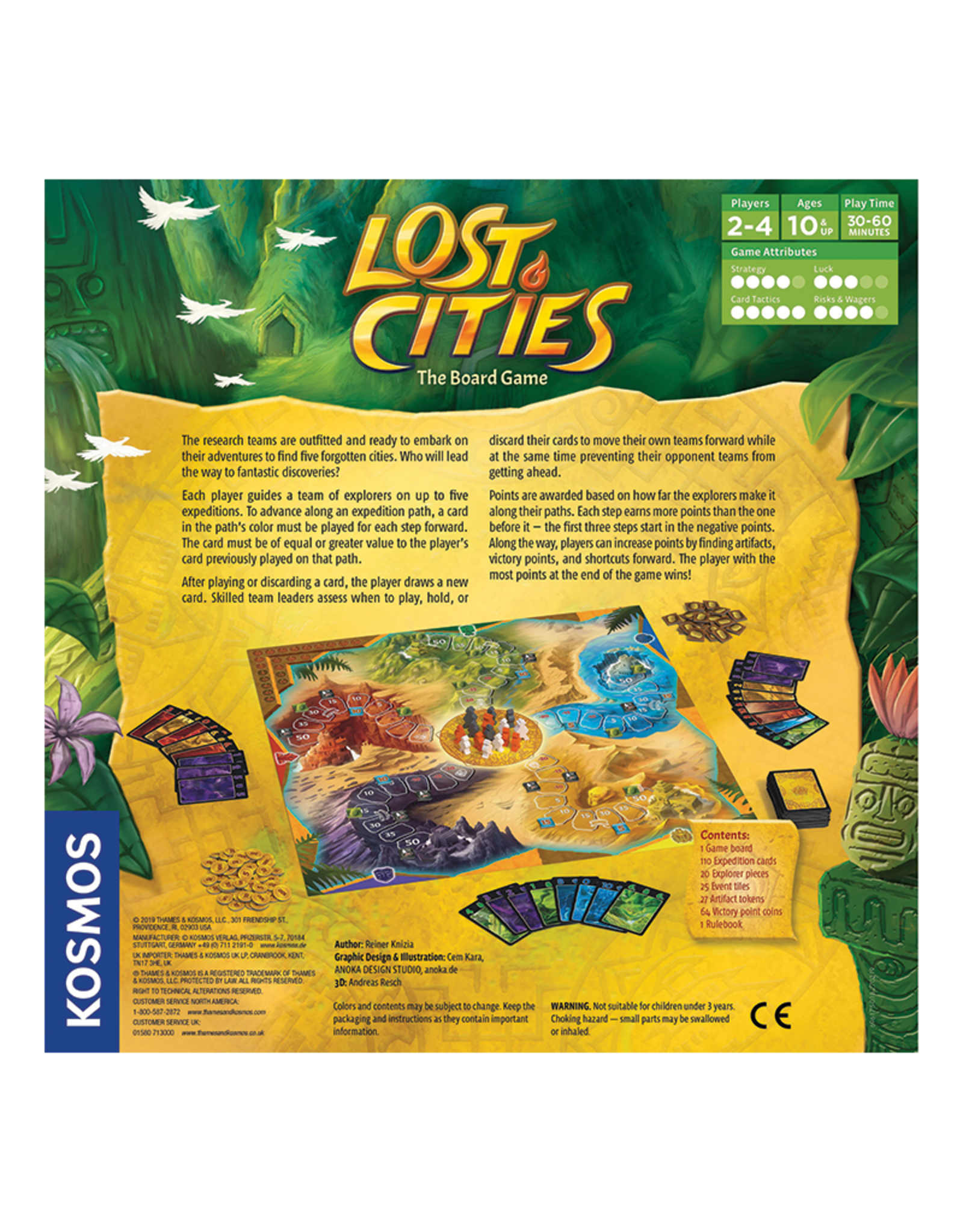 Thames & Kosmos Lost Cities:  The Board Game