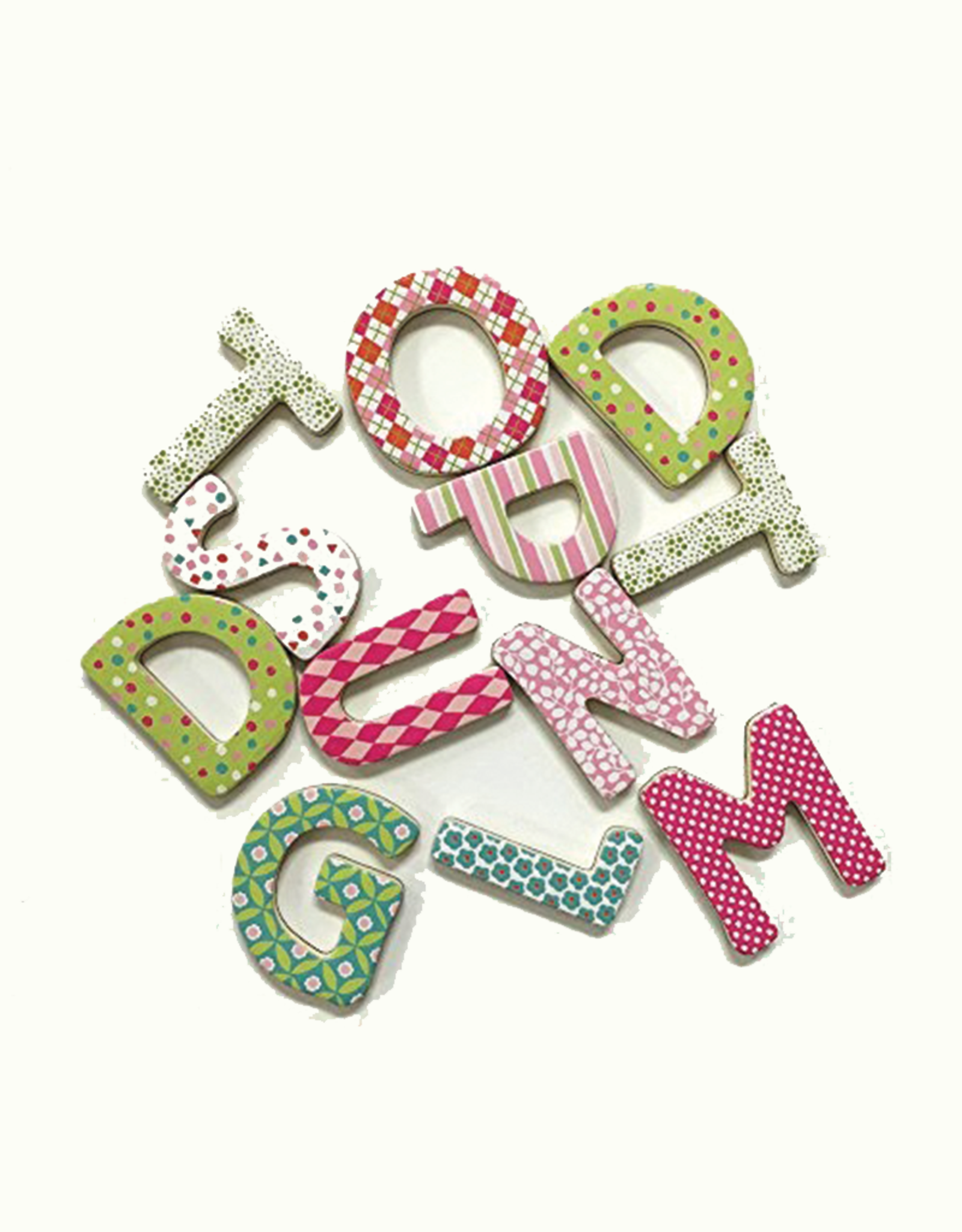 Mudpuppy Sweet Patterns Magnetic Uppercase Letters