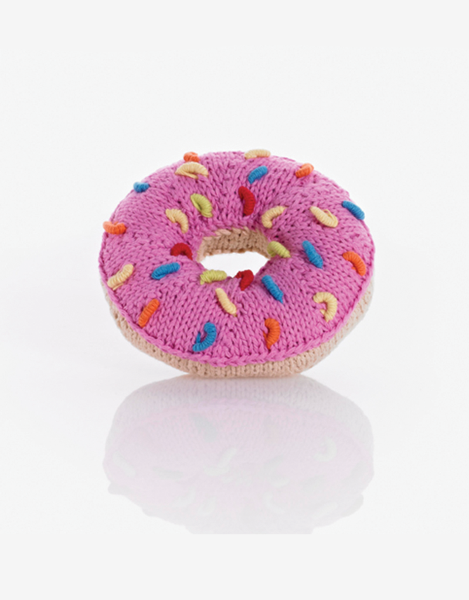 Pebble Pink Donut Rattle