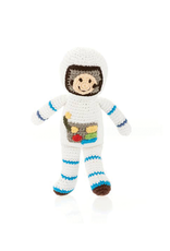 Pebble Astronaut Knitted Rattle
