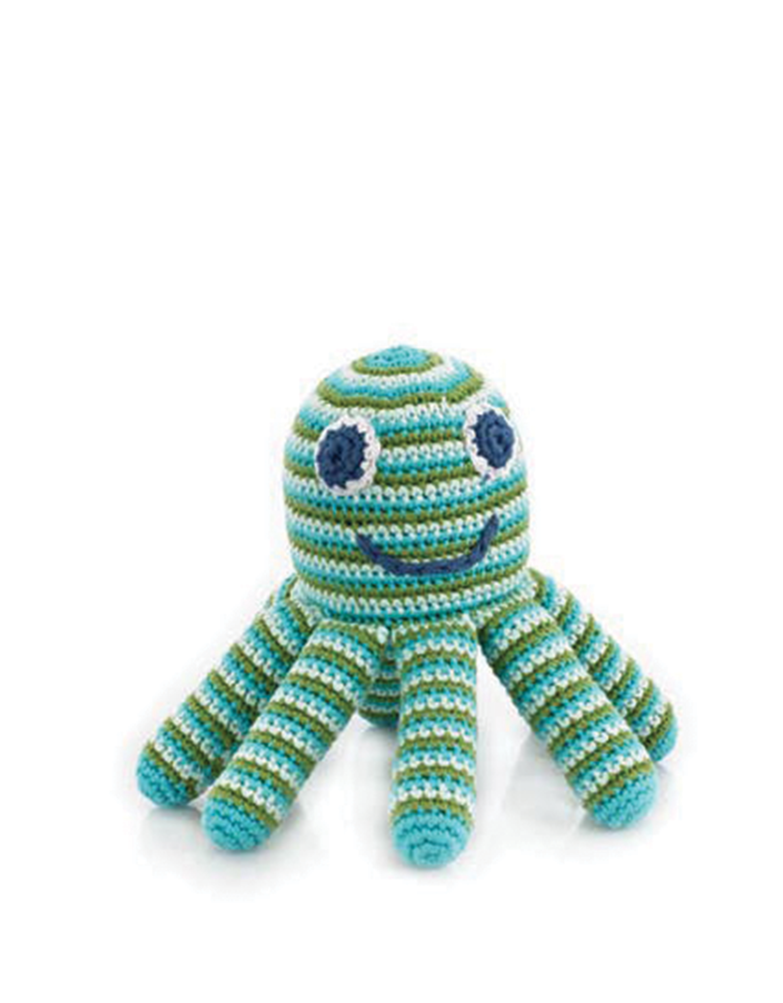 Pebble Green Octopus Knitted Rattle