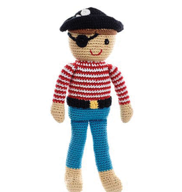 Pebble Storytime Pirate Knitted Doll