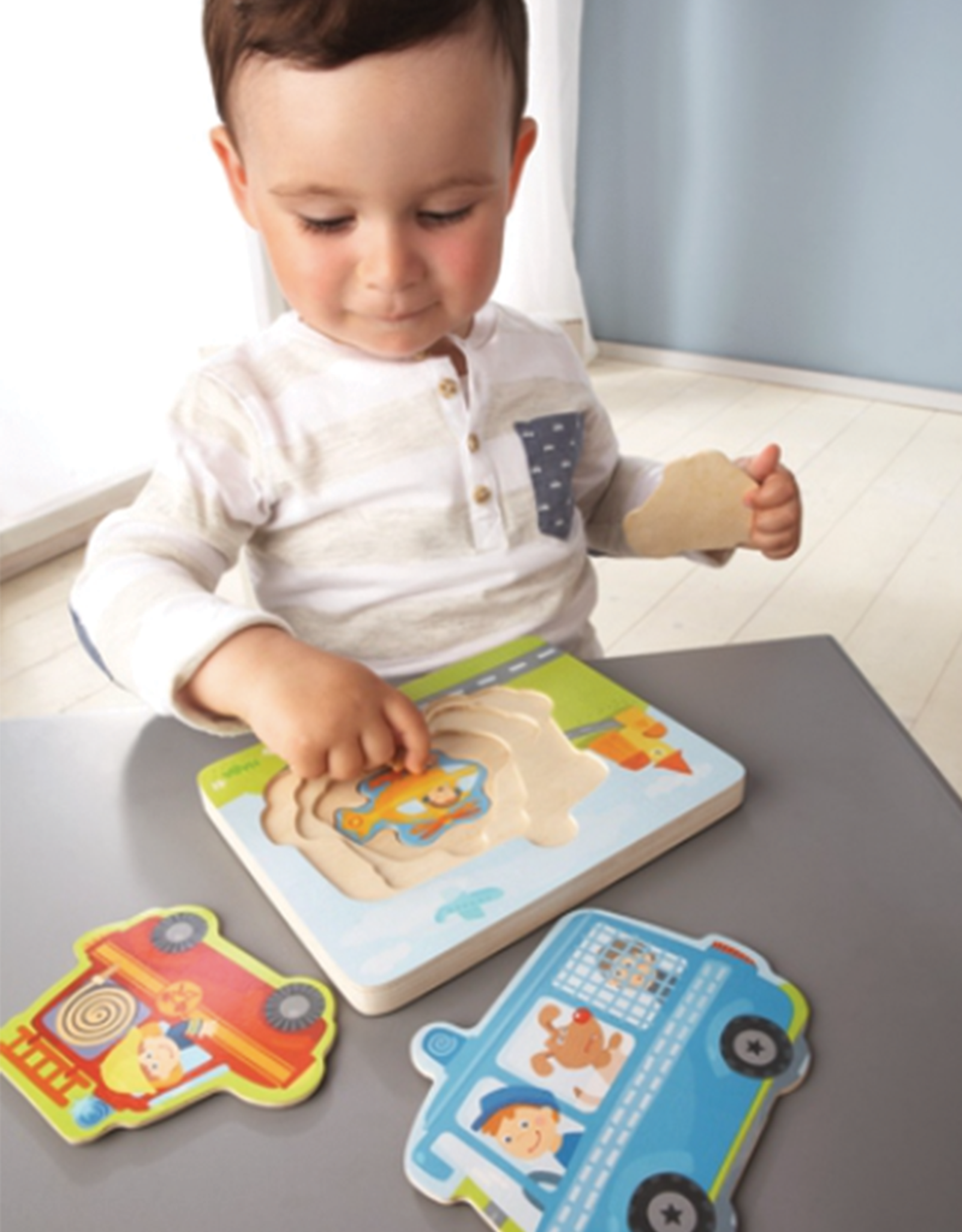 Haba Haba Emergency Call 4-in-1 Wooden Puzzle