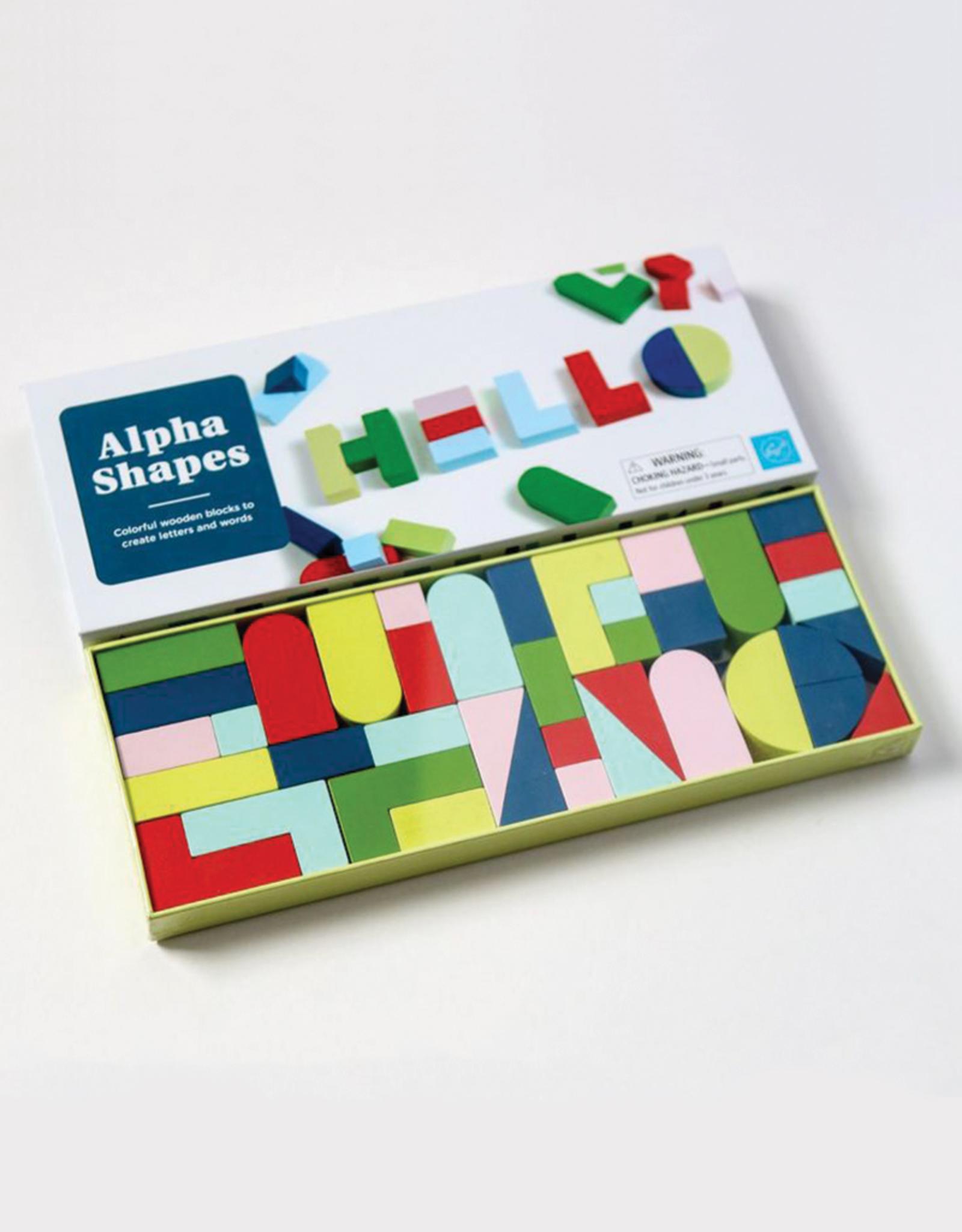 Alpha Shapes Wooden Blocks