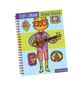 Mudpuppy Flip & Draw Cool Cats:  Draw Your Own Character