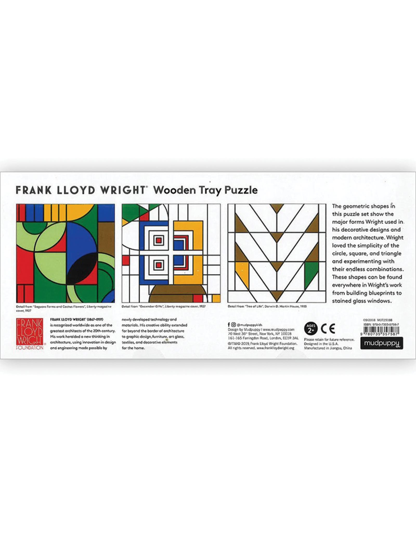 Mudpuppy Frank Lloyd Wright Wooden Puzzle
