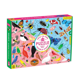 Mudpuppy Bugs & Birds 100 Piece Double-Sided Puzzle