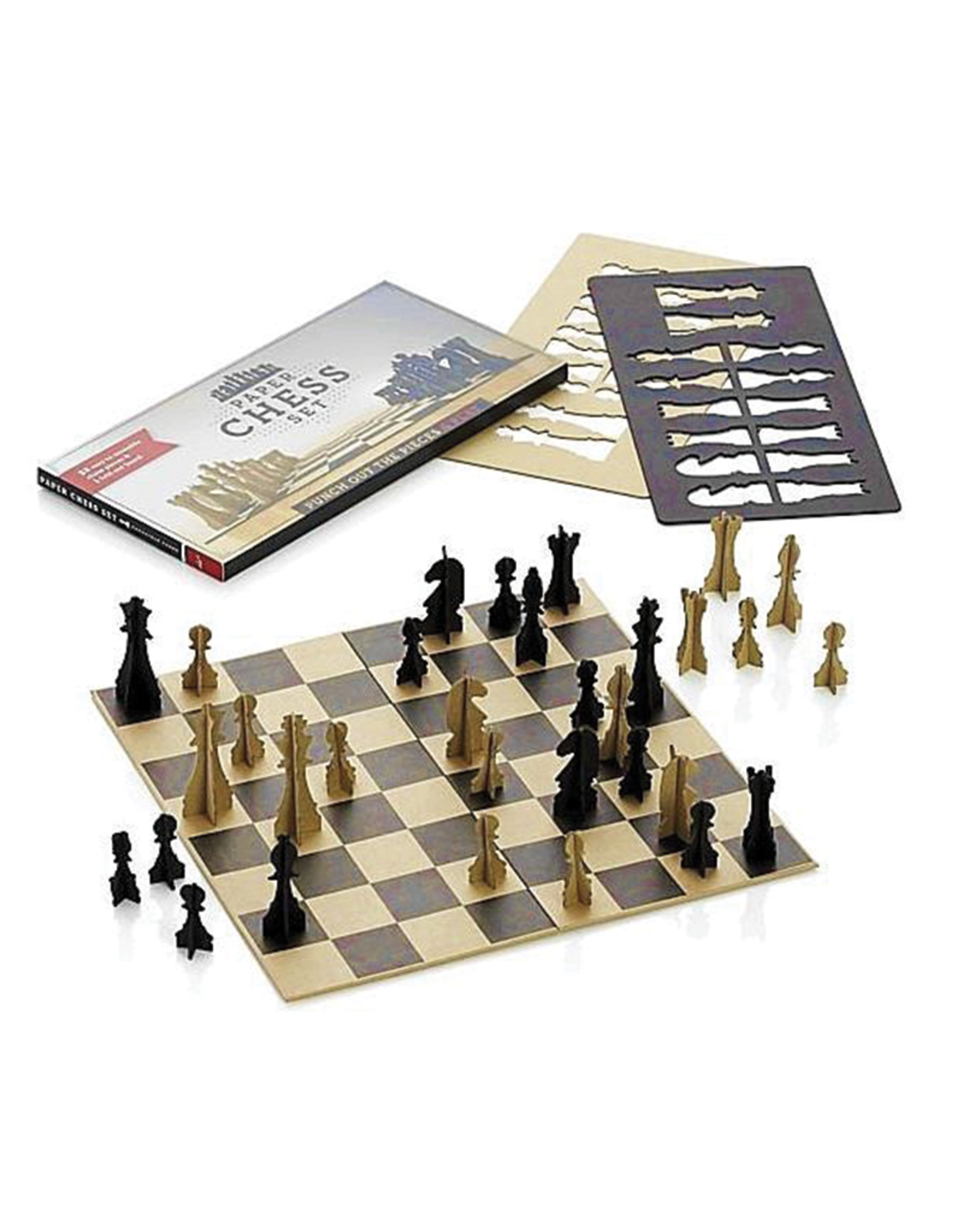 Punch-Out Paper Chess Set