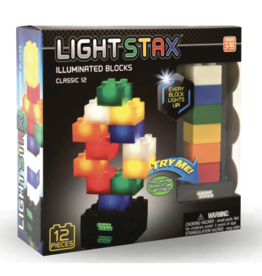 Light Stax Junior Classic LED Illuminated Blocks, 12 Pieces