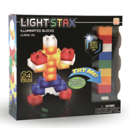Light Stax Junior Classic LED Illuminated Blocks, 24 Pieces