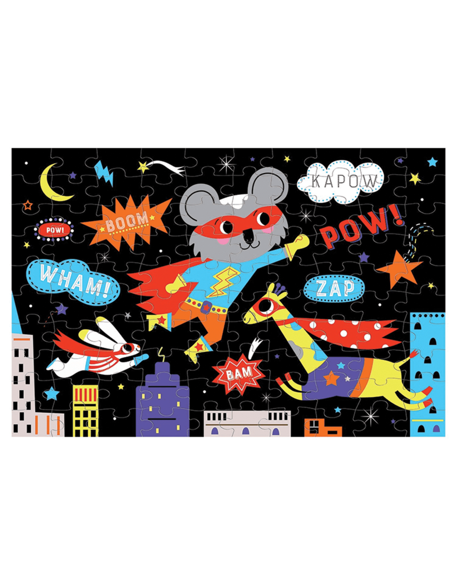 Mudpuppy Superhero Glow-in-the-Dark 100 Piece Puzzle