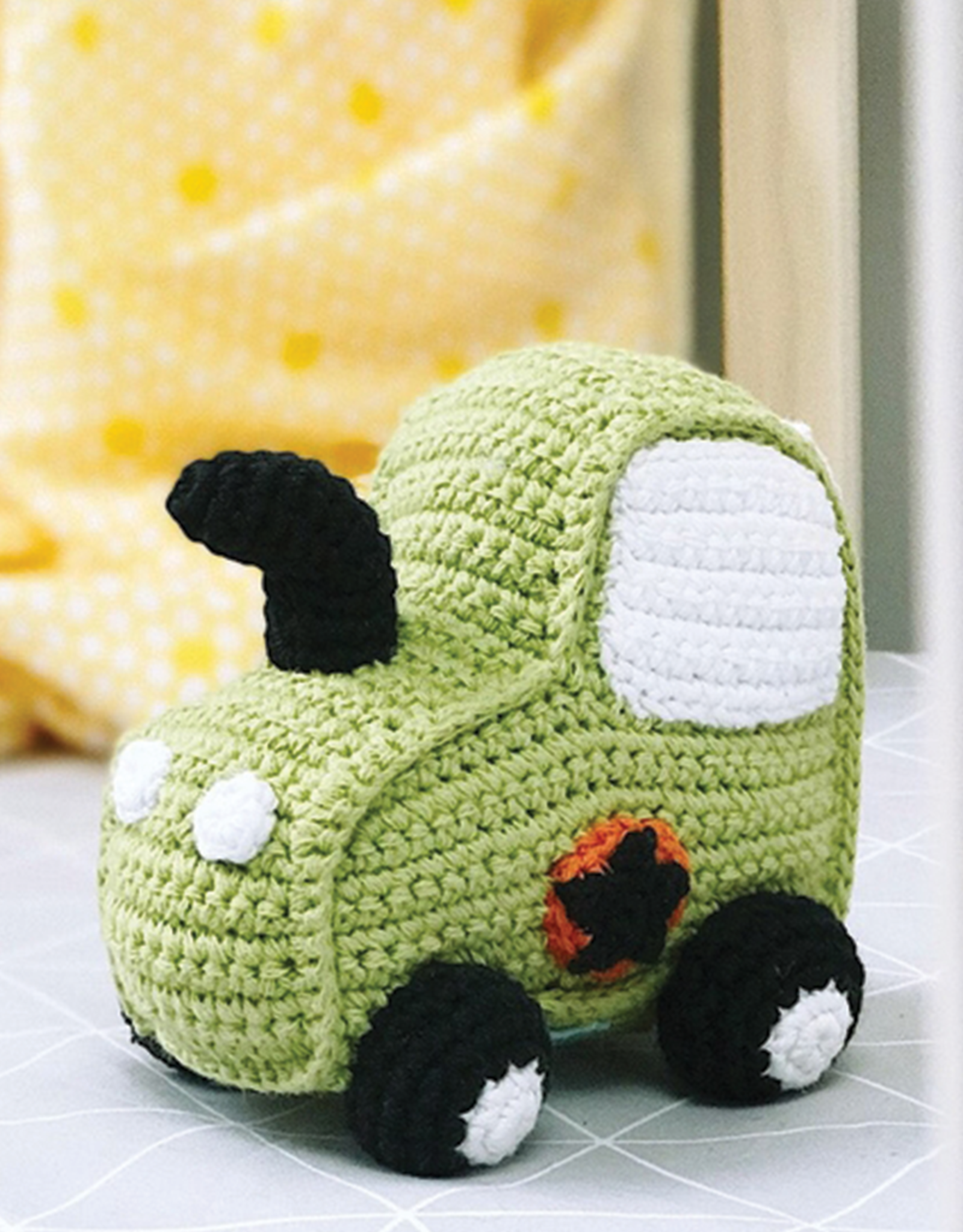 Pebble Green Tractor Rattle