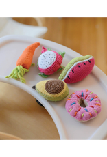Pebble Carrot Knitted Rattle