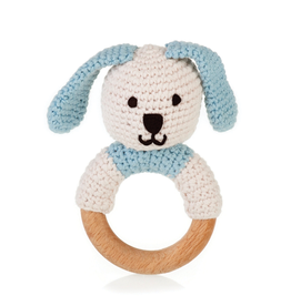 Pebble Organic Wooden Bunny Teething Ring