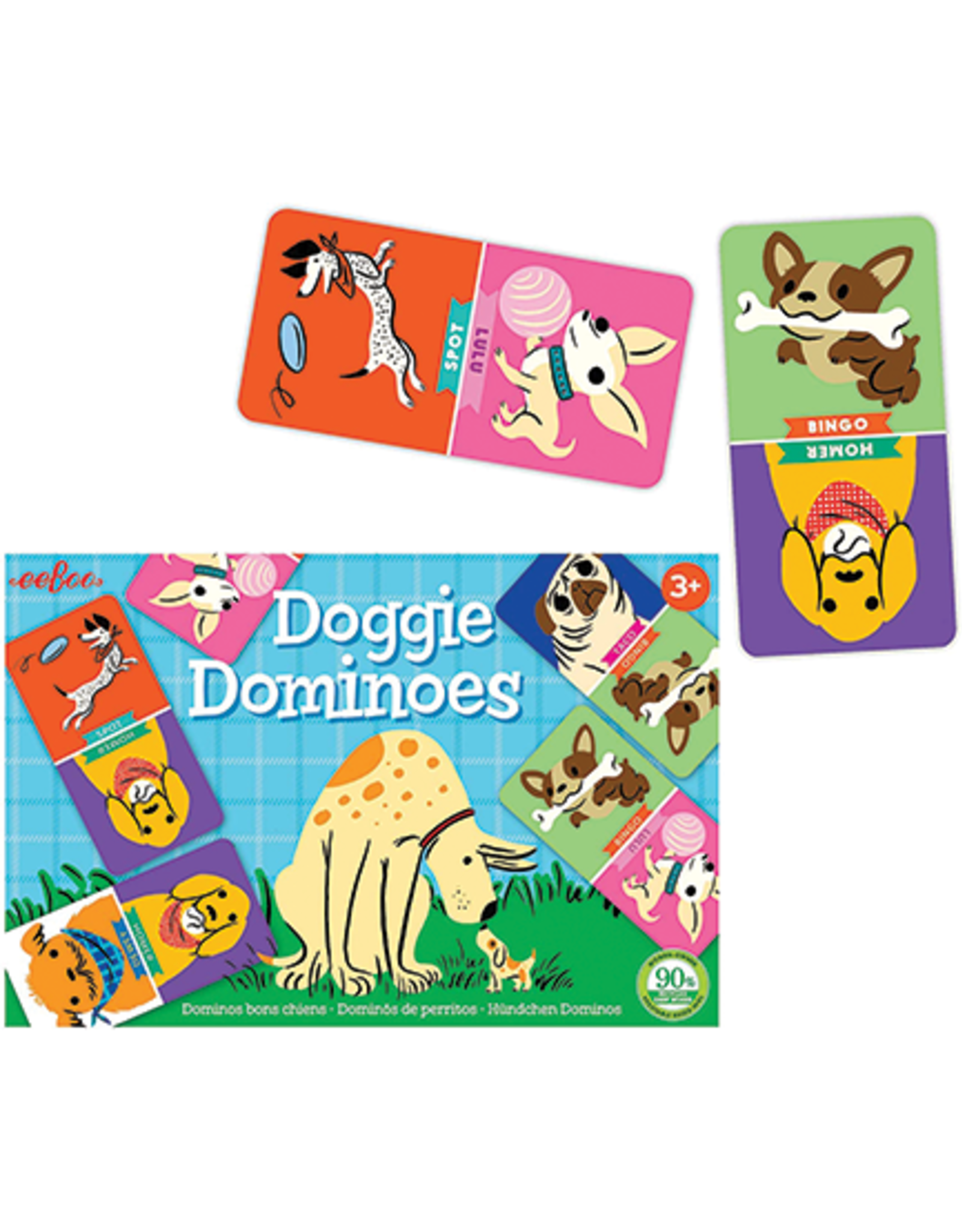 eeBoo Doggie Dominoes Little Game