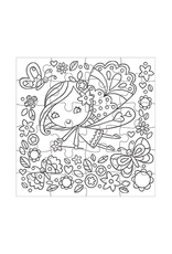 Mudpuppy Flower Fairy Color-In 24 Piece Puzzle