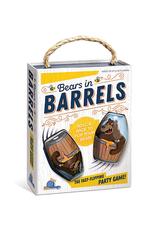 Blue Orange Bears in Barrels
