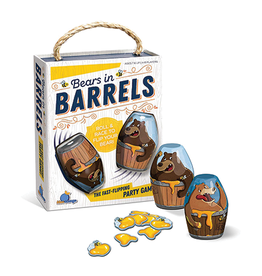 Blue Orange Bears in Barrels