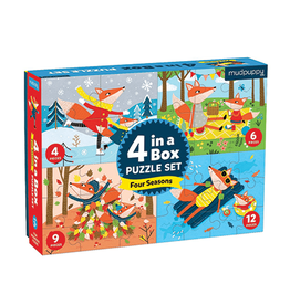 Mudpuppy Four Seasons 4-In-a-Box Progressive Puzzle