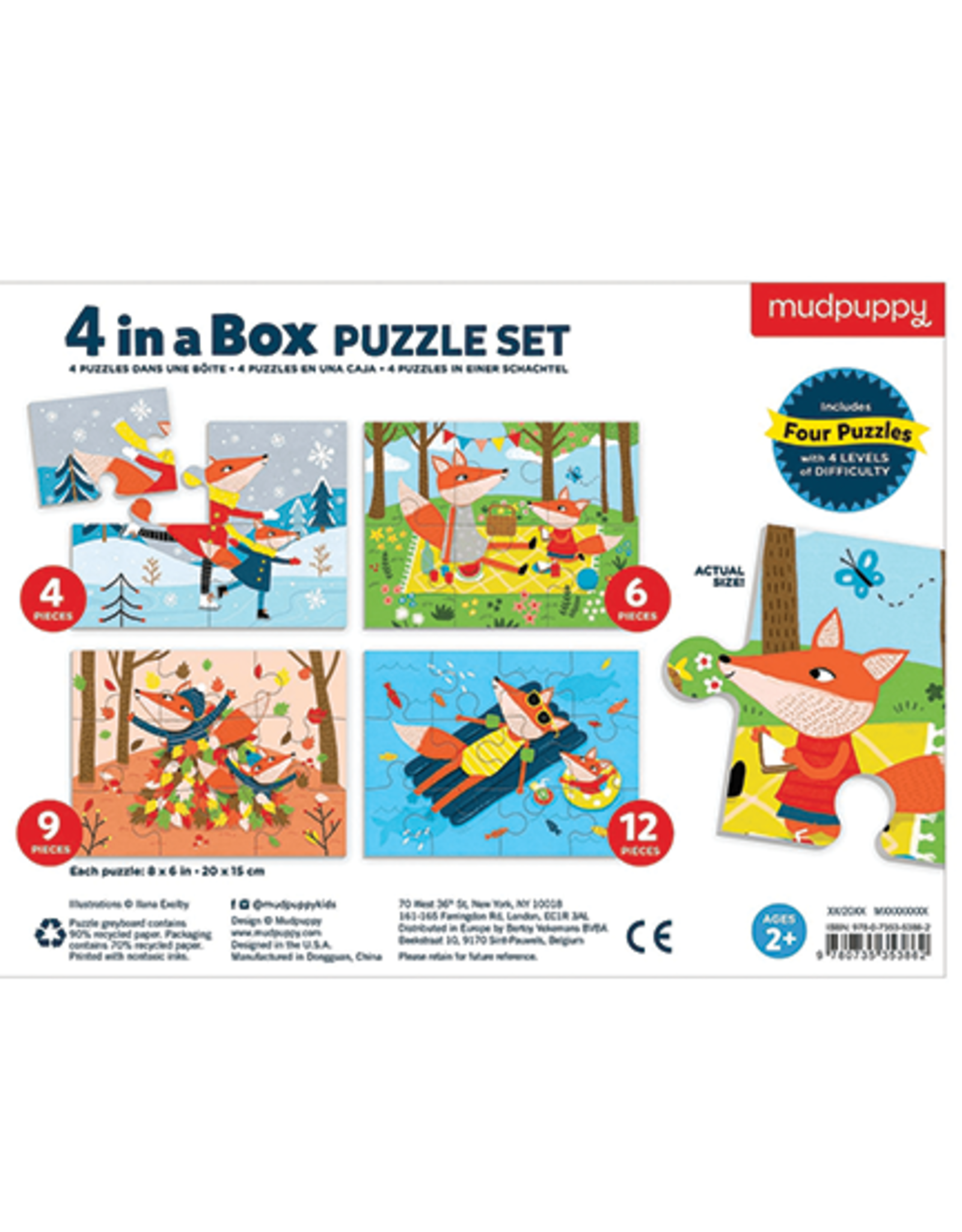 Mudpuppy Four Seasons 4-In-a-Box Progressive Puzzle