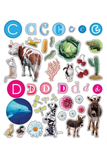 Eyelike Reusable Stickers: Letters Inspired by Nature