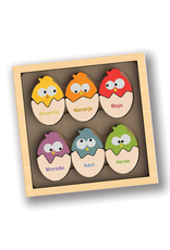 Colored Eggs Bilingual Matching Puzzle