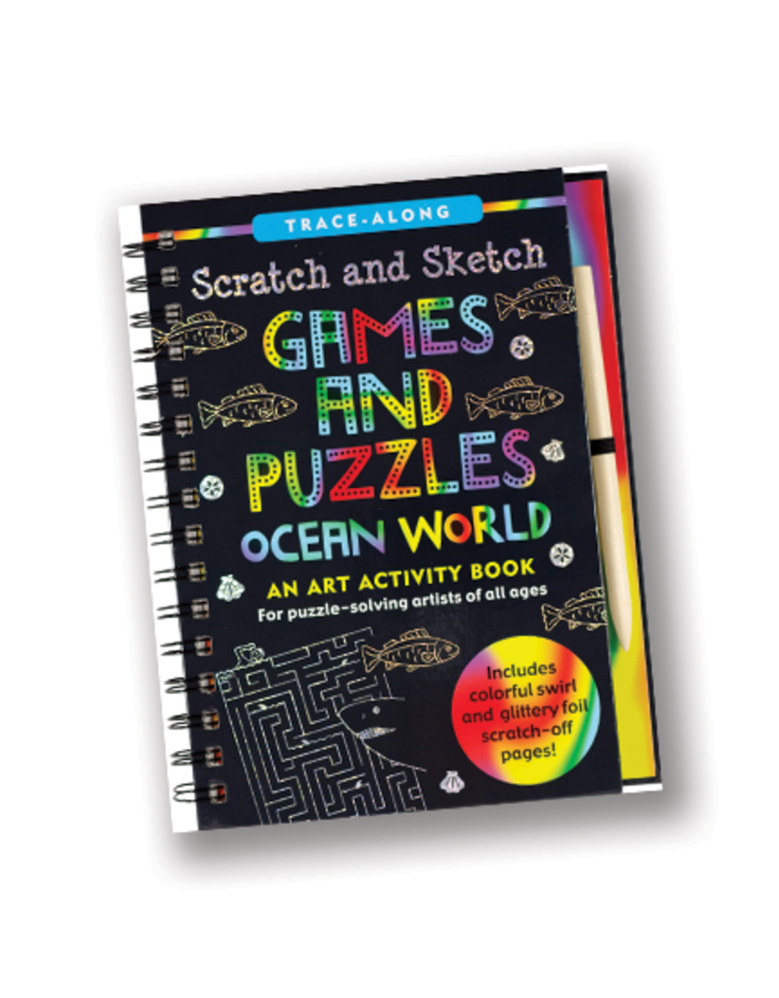 Ocean World Games & Puzzles Scratch & Sketch