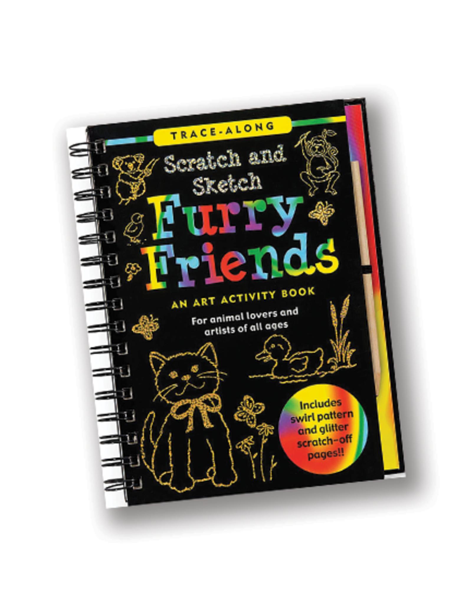 Furry Friends Scratch & Sketch Art Activity Book