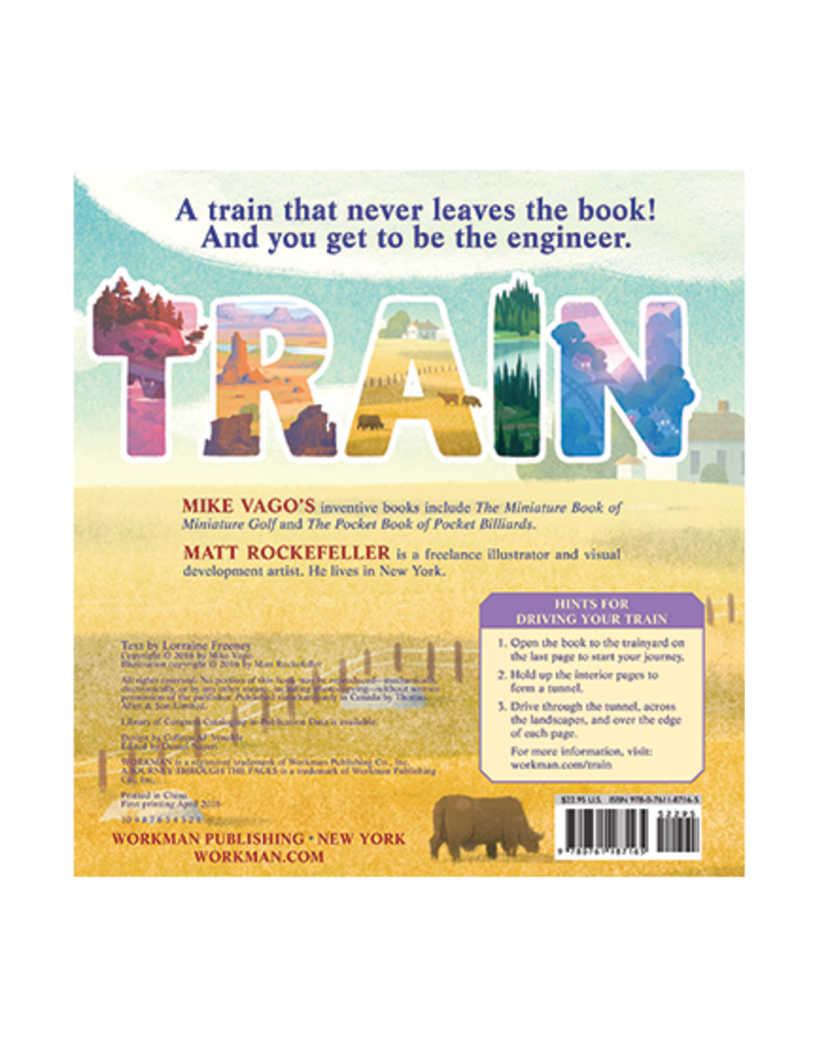 Workman Publishing Train:  A Journey Through the Pages Book
