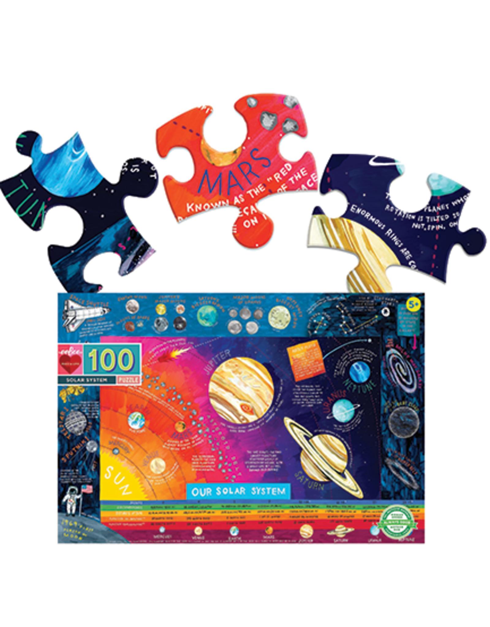 eeBoo Solar System 100 Piece Puzzle