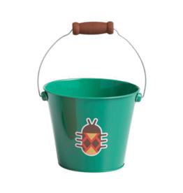 Green Beetle Mini Metal Bucket