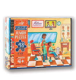 Little Likes Kids Midtown Barber Shop 48 Piece Puzzle by Little Likes Kids