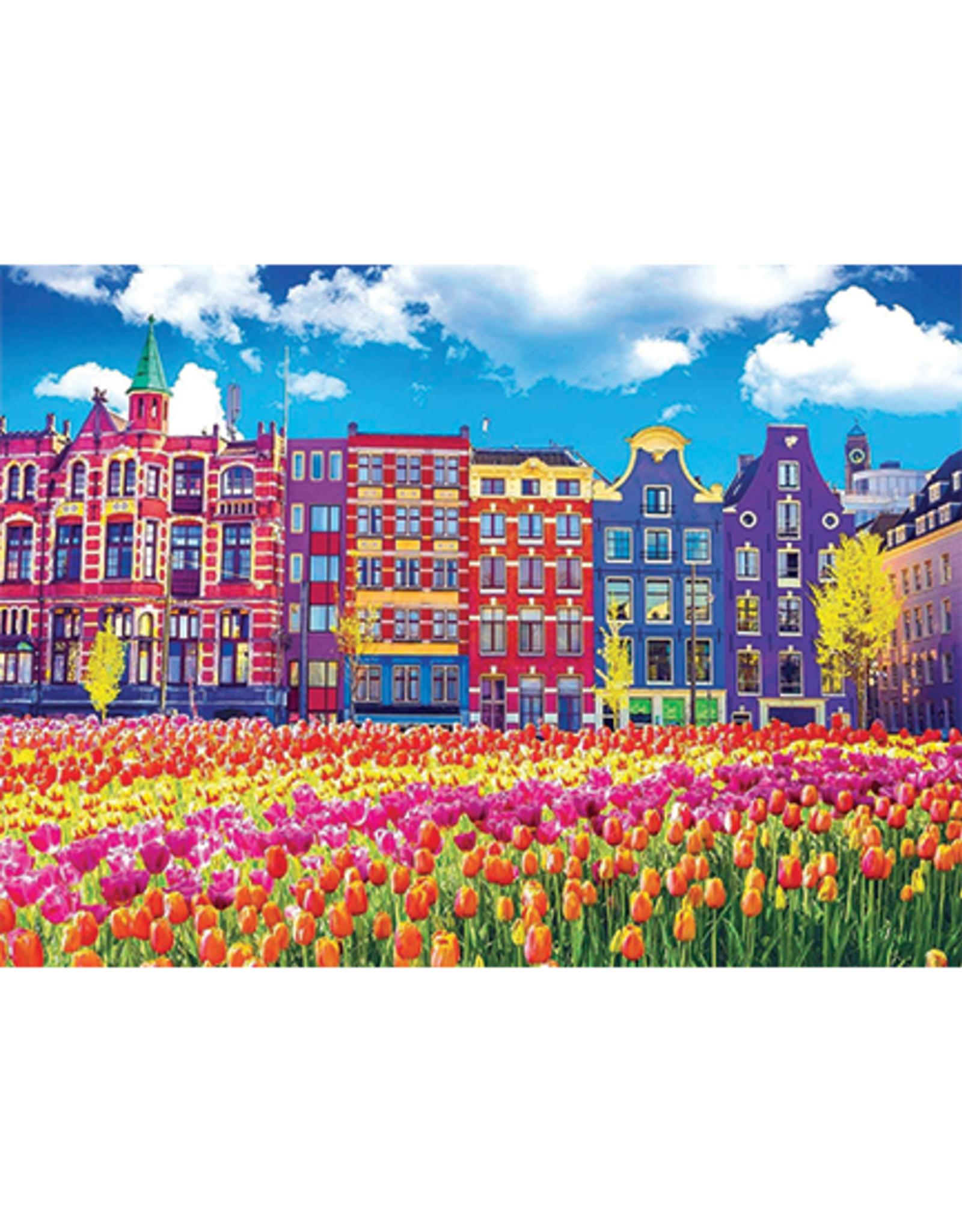 KODAK Premium 1000 Piece Puzzle:  Tulips in Amsterdam