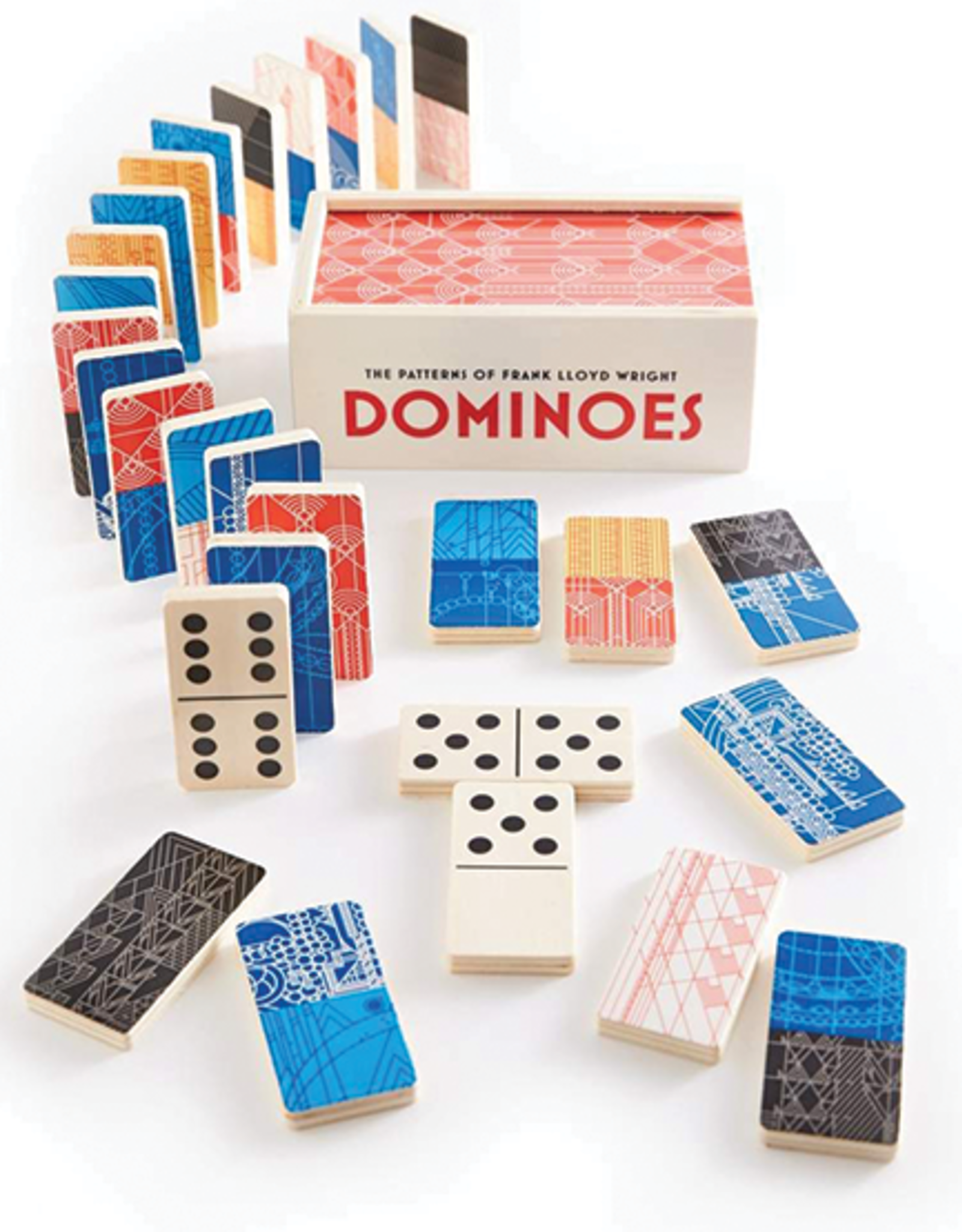 Mudpuppy Frank Lloyd Wright Wooden Dominoes