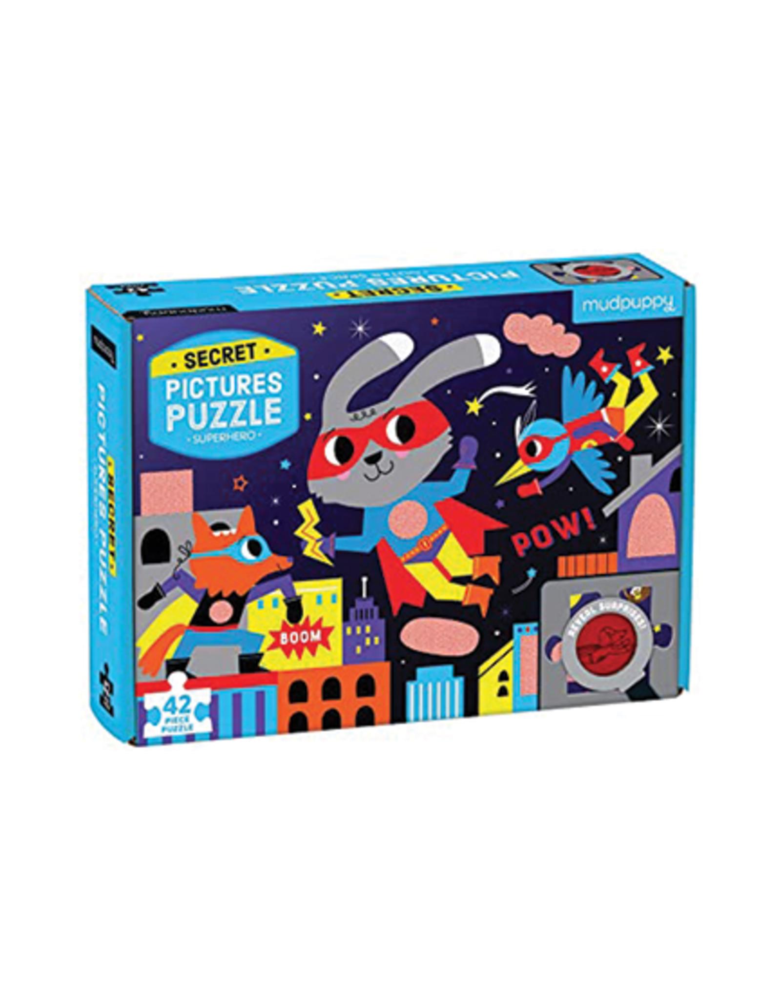 Mudpuppy Superhero Secret Picture 42-Piece Puzzle